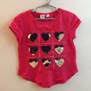 Gap Kids Heart Sequin Top